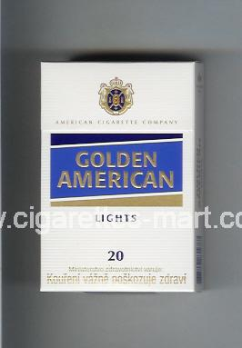 Golden American (german version) (design 3) (Lights) ( hard box cigarettes )