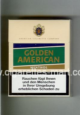 Golden American (german version) (design 3) (Menthol) ( hard box cigarettes )