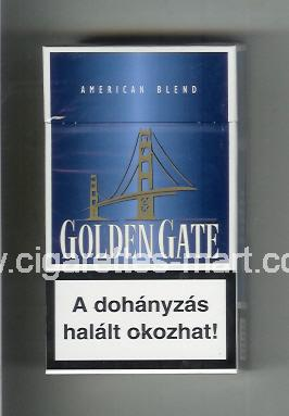 Golden Gate (german version) (design 1) (American Blend) (blue) ( hard box cigarettes )