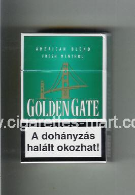 Golden Gate (german version) (design 1) (American Blend) (green) ( hard box cigarettes )