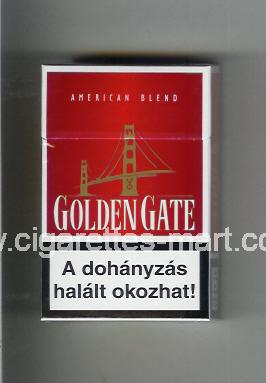 Golden Gate (german version) (design 1) (American Blend) (red) ( hard box cigarettes )