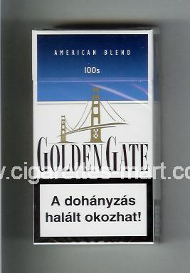 Golden Gate (german version) (design 1) (American Blend) (white & blue) ( hard box cigarettes )