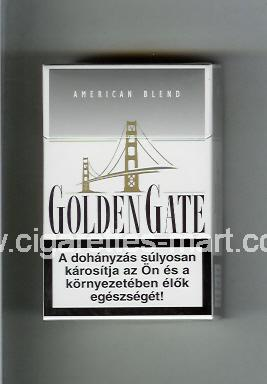 Golden Gate (german version) (design 1) (American Blend) (white & grey) ( hard box cigarettes )
