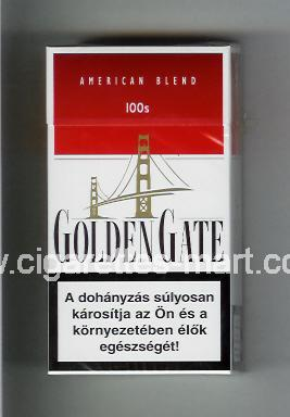 Golden Gate (german version) (design 1) (American Blend) (white & red) ( hard box cigarettes )