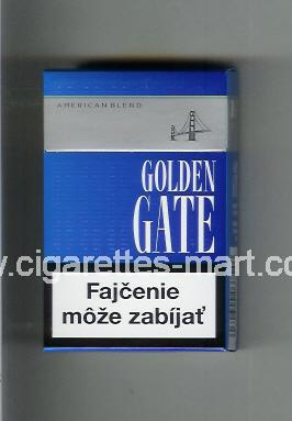Golden Gate (german version) (design 2) (American Blend) (blue) ( hard box cigarettes )