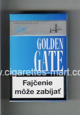 Golden Gate (german version) (design 2) (American Blend / Slims) (blue) ( hard box cigarettes )