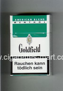 Goldfield (design 1) (American Blend / Menthol) ( hard box cigarettes )
