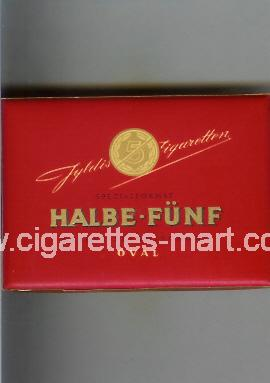 Halbe-Funf (design 2) (Oval) ( box cigarettes )