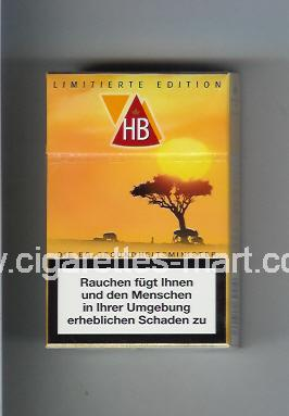 HB (german version) (collection design 2B) (Limitierte Edition) ( hard box cigarettes )