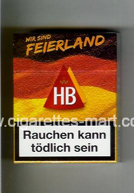 HB (german version) (collection design 3) (Wir Sind Feierland) ( hard box cigarettes )