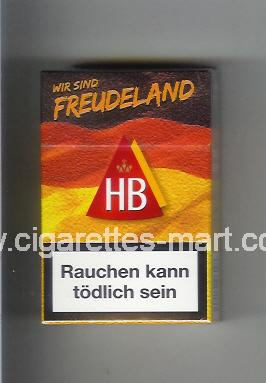HB (german version) (collection design 3) (Wir Sind Freudeland) ( hard box cigarettes )