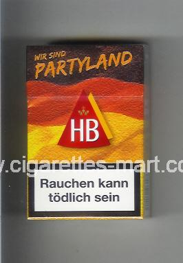 HB (german version) (collection design 3) (Wir Sind Partyland) ( hard box cigarettes )