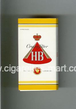 HB (german version) (design 1) (Crown Filter) ( hard box cigarettes )