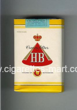 HB (german version) (design 1) (Crown Filter) ( soft box cigarettes )