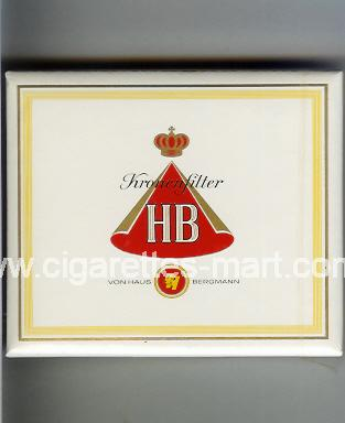 HB (german version) (design 1A) (Kronen Filter) ( box cigarettes )