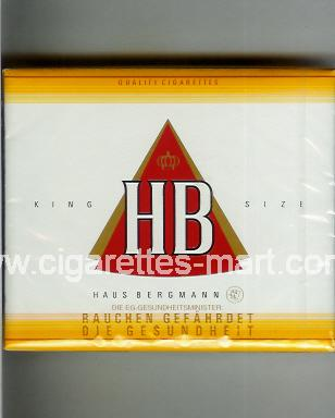 HB (german version) (design 2) ( box cigarettes )