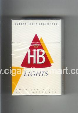 HB (german version) (design 3) (Lights / Modern Light Cigarettes) ( hard box cigarettes )