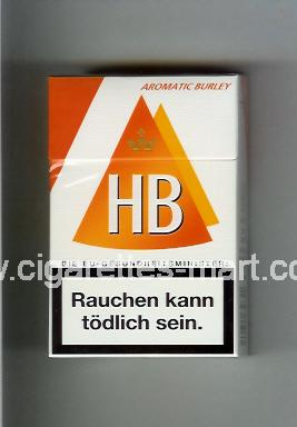 HB (german version) (design 3A) (Aromatic Burley) ( hard box cigarettes )
