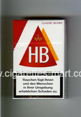 HB (german version) (design 3A) (Classic Blend) ( hard box cigarettes )