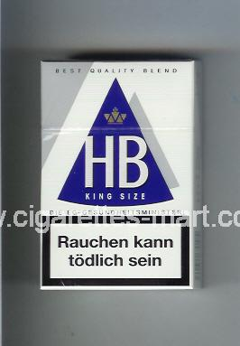 HB (german version) (design 3A) (King Size / Best Quality Blend) ( hard box cigarettes )
