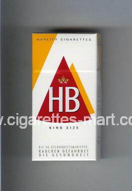 HB (german version) (design 3A) (King Size) ( hard box cigarettes )