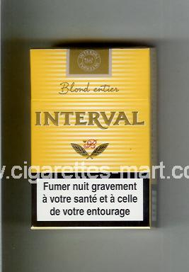 Interval (Blond Entier) ( hard box cigarettes )