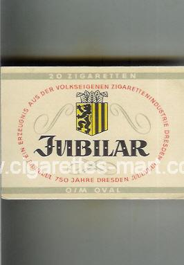 Jubilar (design 1) (O/M Oval) ( box cigarettes )