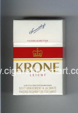 Krone (design 3) (Leicht) ( hard box cigarettes )