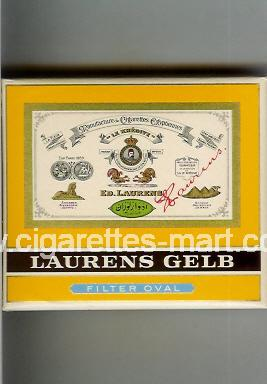Laurens (german version) (design 2) Gelb (Filter Oval) ( box cigarettes )