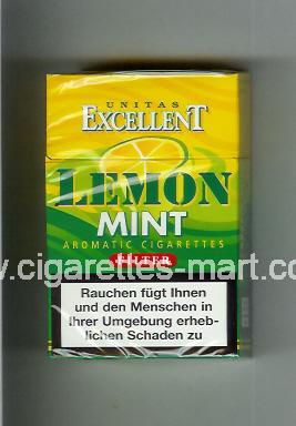 Lemon Mint (Excellent Unitas) ( hard box cigarettes )