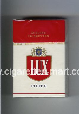 Lux (german version) (design 4A) (Filter / Auslese Cigaretten) ( hard box cigarettes )
