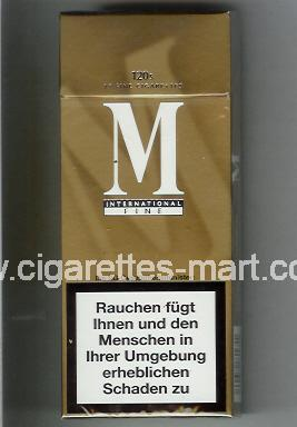 M (german version) (International / Fine) ( hard box cigarettes )