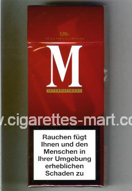 M (german version) (International) ( hard box cigarettes )