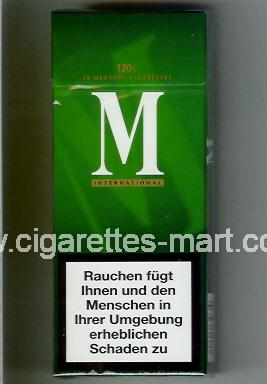 M (german version) (International / Menthol) ( hard box cigarettes )