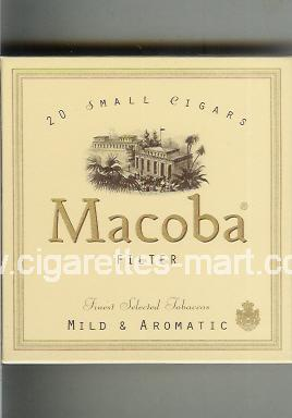 Macoba (design 1) (Small Cigars / Filter / Mild & Aromatic) ( box cigarettes )