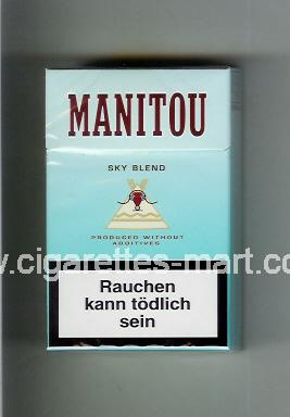 Manitou (design 1) (Sky Blend) ( hard box cigarettes )