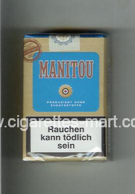 Manitou (design 3) (brown & blue) ( soft box cigarettes )