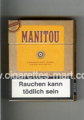 Manitou (design 3) (brown & yellow) ( hard box cigarettes )