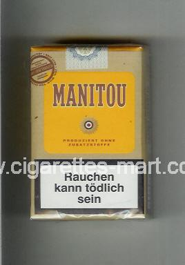 Manitou (design 3) (brown & yellow) ( soft box cigarettes )