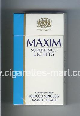 Maxim (german version) (design 2) (Lights) ( hard box cigarettes )