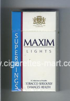 Maxim (german version) (design 2A) (Lights) ( hard box cigarettes )