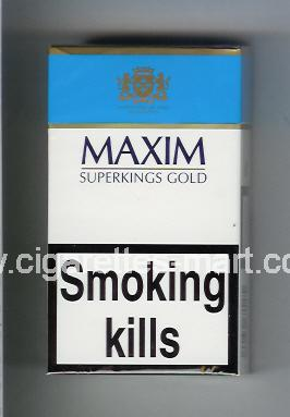 Maxim (german version) (design 3) (Gold) ( hard box cigarettes )
