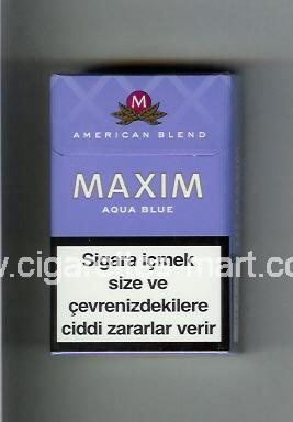 Maxim (german version) (design 4) (Aqua Blue / American Blend) ( hard box cigarettes )