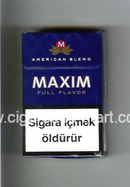 Maxim (german version) (design 4) (Full Flavor / American Blend) ( hard box cigarettes )