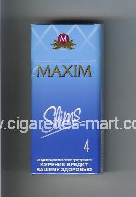 Maxim (german version) (design 4) (Slims 4) ( hard box cigarettes )