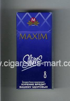 Maxim (german version) (design 4) (Slims 8) ( hard box cigarettes )