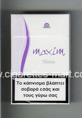 Maxim (german version) (design 5) (Slims) ( hard box cigarettes )