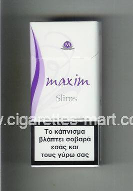 Maxim (german version) (design 5A) (Slims) ( hard box cigarettes )