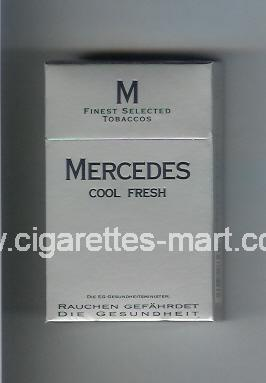 Mercedes (german version) (design 4) (Cool Fresh) ( hard box cigarettes )