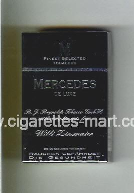 Mercedes (german version) (design 4) (De Luxe / Willi Zinsmaier) ( hard box cigarettes )